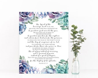 Isaiah 61 Print (Verses 1-3)
