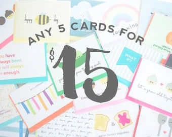 Any 5 Cards With Free Shipping!