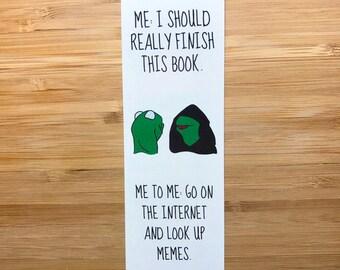 Evil Kermit Meme Bookmark, Kermit the Frog, Inner Kermit Meme, Dank memes, Cute Stationary, Internet Memes, Kermit and Piggy, Funny Gift