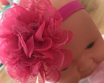 Thick Band Lace Flower Headband