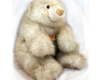 "Vintage 1988 Graphics Intl Heartline Artic Polar Bear Plush 13"""