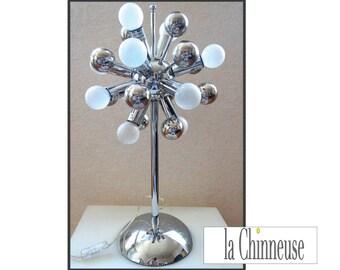 LAMP SPOUTNICK CHROME given Satellite in Metal Chrome / table lamp Spoutnick.