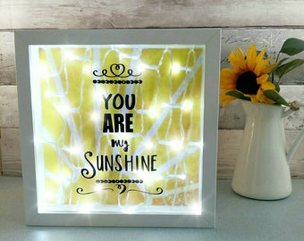 New baby room night light, yellow nursery decor, sunshine room lighting, unique wall lamp, baby shower gifts, present for kids, wall quotes