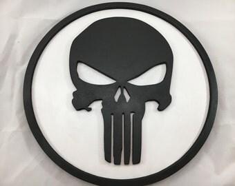 Punisher Sign - 12inch round - 3D