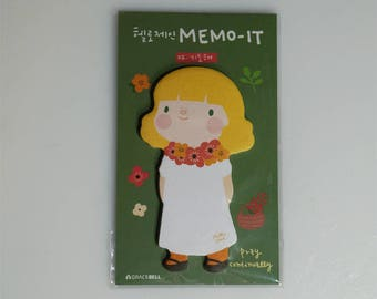 Grace Bell Memo-it Hello Jane Cute Girl Sticky Note Memo, 30 sheets, pray continually  FREE SHIPPING