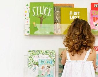 Set of Perspex Floating Bookshelves