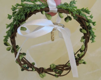 Woodland ring bearer hoop, rustic ring holder, woodland ring holder, brunches ring holder, circlet ring bearer, woodland wedding accessory.
