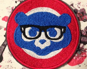 Chicago cubs patch, Harry Caray, Cubs, Cubbies, world series, chicago patch, Harry Carry, baseball patch, MLB patch, Chicago patch