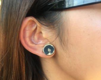 Diana Ross Wooden Earrings