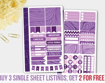Amethyst Color Personal Size Stickers