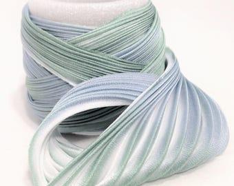 Silk ribbon Shibori N 163  Free delivery from  50 dollar...