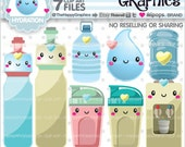 80%OFF - Hydration Clipart, Hydration Graphics, COMMERCIAL USE, Hydrate Clipart, Planner Accessories, Wellness Clipart, Water Bottle