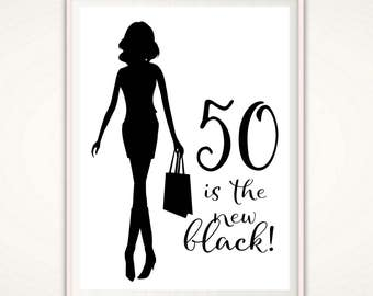 50th Birthday Gift for Women - 50th Birthday PRINTABLE Gift, 50th Birthday Print, Gift Print For Her, 50th Birthday Poster, Present, Ideas