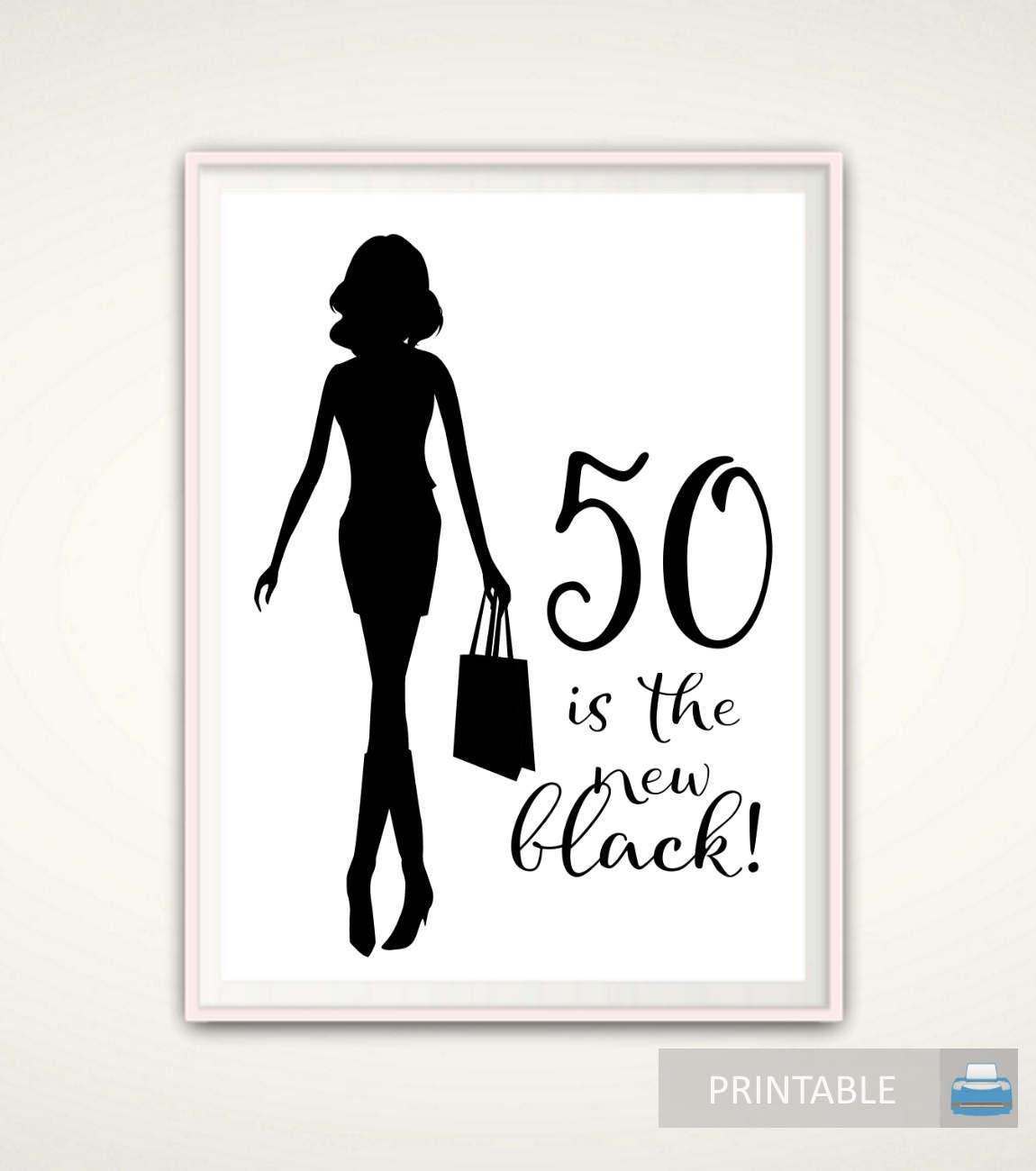 50th Birthday Gift For Women 50th Birthday PRINTABLE Gift