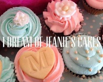 Bridal Shower, Wedding, Monogram Cupcake Toppers