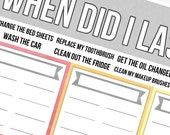 When Did I Last Notes Page - Planner Stickers