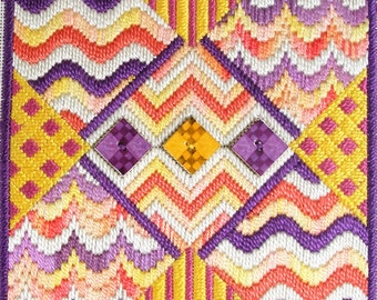 Bargello Button Two Needlepoint Complete Kit
