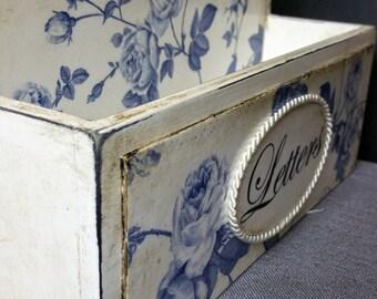 Handmade Decoupage Vintage Wooden  Letters Box Active