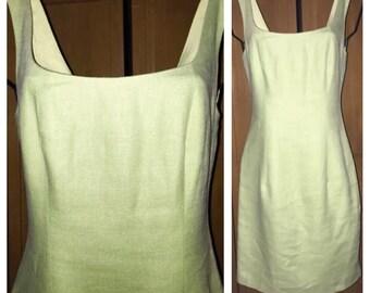 Vintage KAMISATO 100% LInen Sheath dress in a size 4