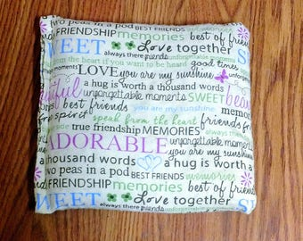 """Corn Heating Bag- Friendship- Heating Pad- Ice Pack- Microwavable - Freezable- Approx 8"""" x 10"""""""