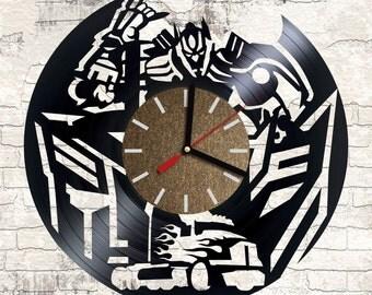 Vinyl wall clock Transformers
