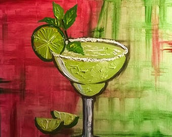 Fiesta! Margarita hand painted acrylic on canvas