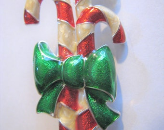 Christmas Candy Cane Pin