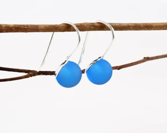 Stick earrings / / aquamarine / / MURANOS / / silver / / craft / / beautiful for Lady