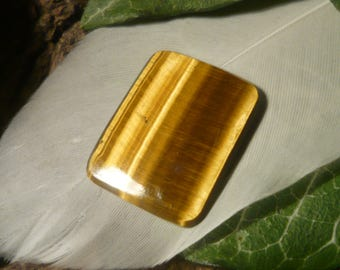 DISCOUNT Tiger's Eye Cabochon, 8.5ct Rectangular Shape