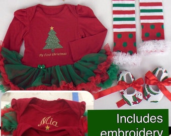 Toddler sizes left Christmas Pajamas Family by LittleLulusGifts