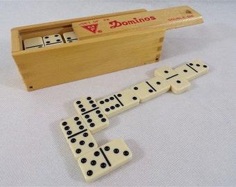 Dominoes game Manufrance brand vintage bakelite vintage France vintagefr board game