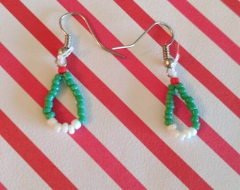 Navajo inspired Turquoise green earrings