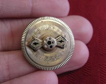 Unique Vintage Brooch or Pendant 8-9k or Gold Filled -#11