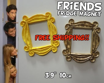 "FRIENDS tv show frame FRIDGE MAGNET (3.9"", 10cm) friends frame friends peephole frame door frame marco friends series tv magnet gift mom"