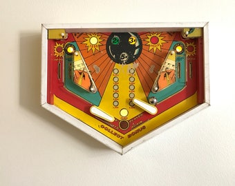 Pinball Wall Art Sculpture with LED Lights Art Deco 70's 80's