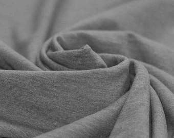 Grey Flecked - Cotton Lycra Jersey Knit Fabric