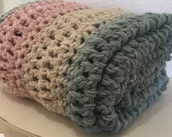 Pastel Afghan Crochet Blanket