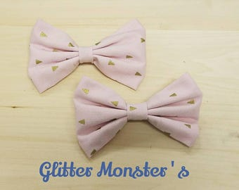 Pink and Gold Bow Tie, Infant-Adult Bow Tie, Mens Ties, Boys Tie, Bow Ties, Mens Bow Ties, Boys Bow Tie, Wedding Ties, Bowtie, Clip On Tie