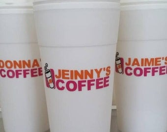 Personalized multicolor reusable coffee cup