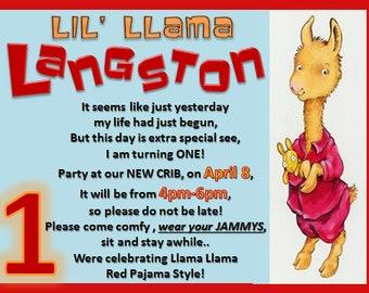 Custom Llama Llama 1st Birthday Invitations