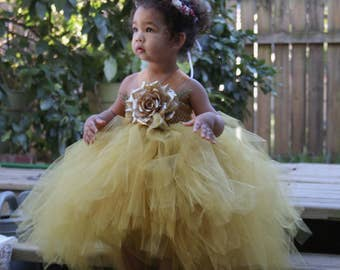 PICTURE PERFECT, high/low dress with flower, newborns/infants/toddlers/girls for birthdays, flower girl, baptism/christening, photography