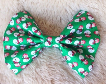 Frosty Collar Bow