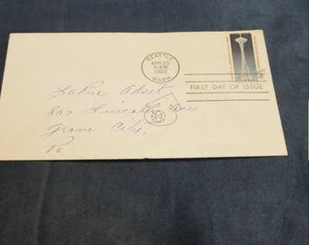 First day issue Seattle world's fair 1962. 4 cent stamp
