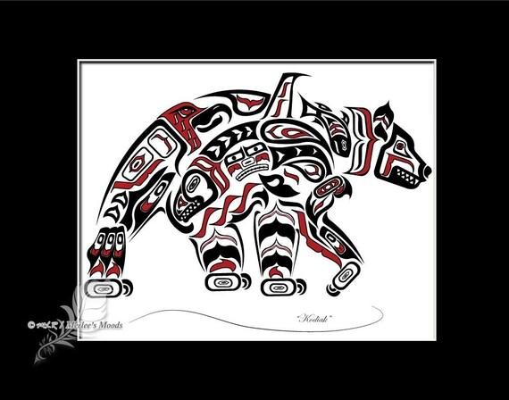 Haida Bear Tlingit Gri...