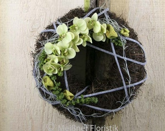 """Door wreath """"green Orchid"""""""