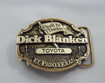 Vintage Bostock Numbered Belt Buckle 1985