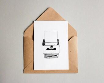 Typewriter   A6 print
