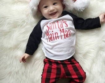 Toddler Christmas shirt, boys Christmas shirt, boys Santa shirt, santa's main man, Santa is my homeboy, Christmas raglan, T shirt, outfit