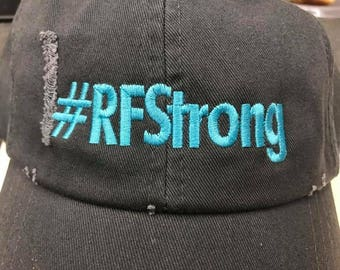 Hashtag RFStrong Distressed Look Unstructured Hat