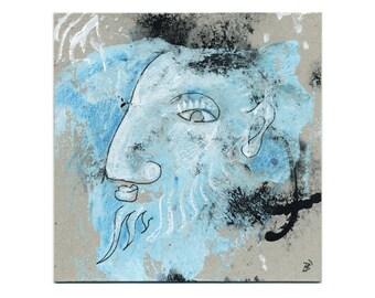 Blue portrait - picture 15/15 cm (5.9/5.9 inch)